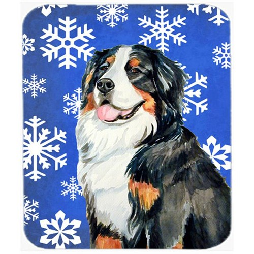 Carolines Treasures LH9289MP Bernese Mountain Dog Winter Snowflakes Holiday Mouse Pad Hot Pad Or Trivet