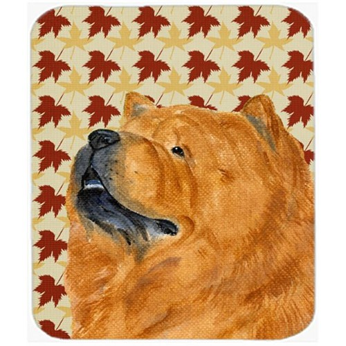 Carolines Treasures SS4354MP Chow Chow Fall Leaves Portrait Mouse Pad Hot Pad Or Trivet
