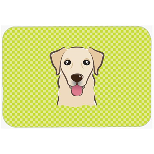 Carolines Treasures BB1314MP Checkerboard Lime Green Golden Retriever Mouse Pad Hot Pad Or Trivet 7.75 x 9.25 In.