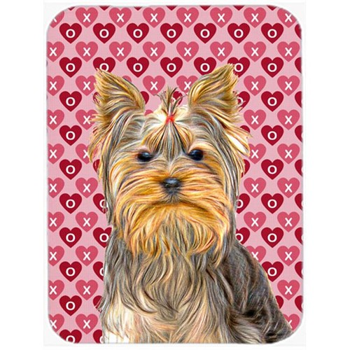 Carolines Treasures KJ1191MP Hearts Love and Valentines Day Yorkie & Yorkshire Terrier Mouse Pad Hot Pad or Trivet