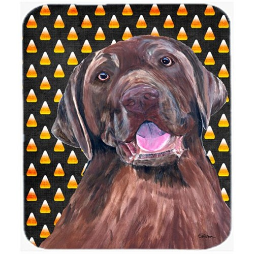 Carolines Treasures SC9157MP Labrador Chocolate Candy Corn Halloween Portrait Mouse Pad Hot Pad or Trivet