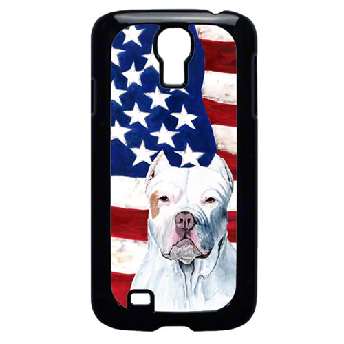 Carolines Treasures SC9026GALAXYS4 USA American Flag with Pit Bull Cell Phone Cover GALAXY S4