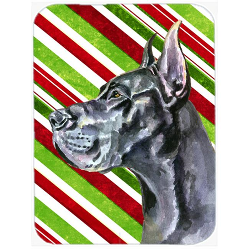Carolines Treasures LH9592MP Black Great Dane Candy Cane Holiday Christmas Mouse Pad Hot Pad & Trivet