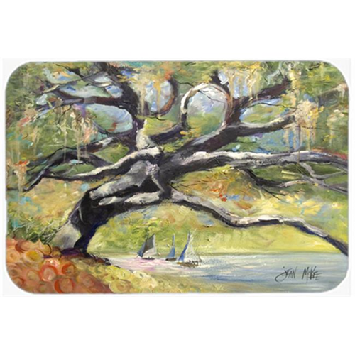 Carolines Treasures JMK1132MP Oak Tree On The Bay With Sailboats Mouse Pad Hot Pad & Trivet