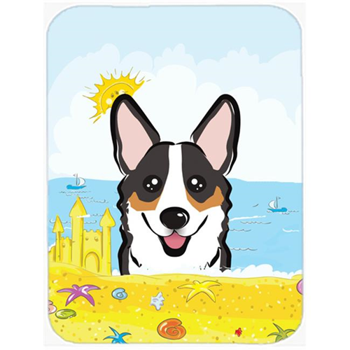 Carolines Treasures BB2123MP Tricolor Corgi Summer Beach Mouse Pad Hot Pad or Trivet