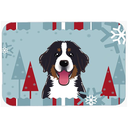 Carolines Treasures BB1733MP Winter Holiday Bernese Mountain Dog Mouse Pad Hot Pad & Trivet