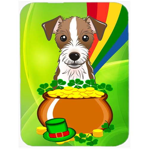 Carolines Treasures BB1946MP Jack Russell Terrier St. Patricks Day Mouse Pad Hot Pad or Trivet