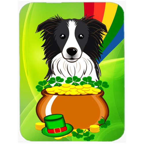 Carolines Treasures BB1985MP Border Collie St. Patricks Day Mouse Pad Hot Pad or Trivet