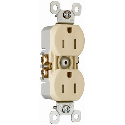 Pass & Seymour 3232TRICP8 Tamper Resistant Outlet 15A Ivory