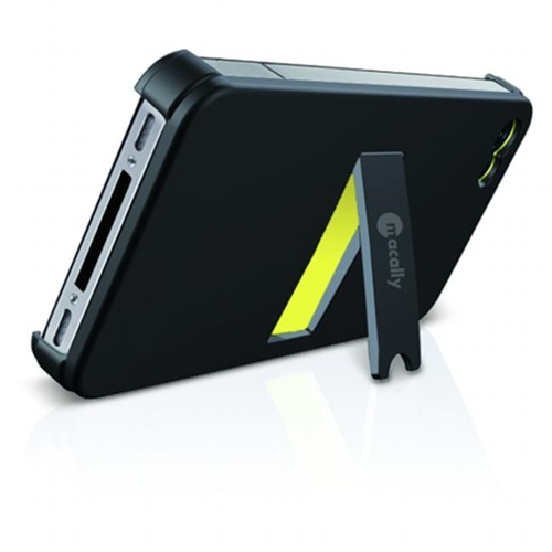 Macally KickStandP4 Snap-On Case with Stand Plus Sticky Swipe for iPhone4