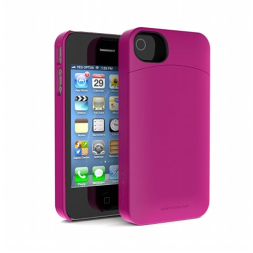 Annex Iphone4 4S Holda Case with Discrete Storage - Pink - HCIP4P