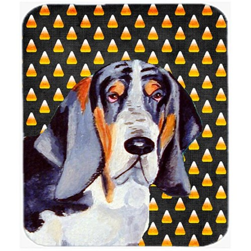 Carolines Treasures LH9068MP Basset Hound Candy Corn Halloween Portrait Mouse Pad Hot Pad or Trivet