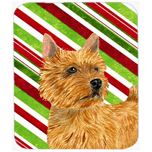 Carolines Treasures SS4568MP Norwich Terrier Candy Cane Holiday Christmas Mouse Pad Hot Pad Or Trivet