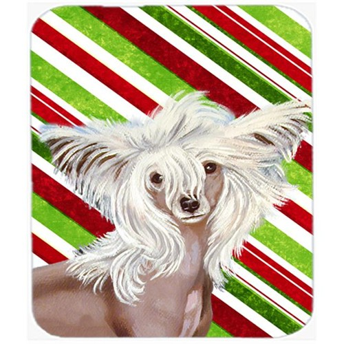 Carolines Treasures LH9257MP Chinese Crested Candy Cane Holiday Christmas Mouse Pad Hot Pad Or Trivet