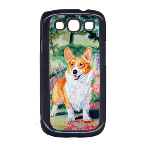 Carolines Treasures 7077GALAXYSIII Corgi Springtime In The Garden Galaxy S111 Cell Phone Cover