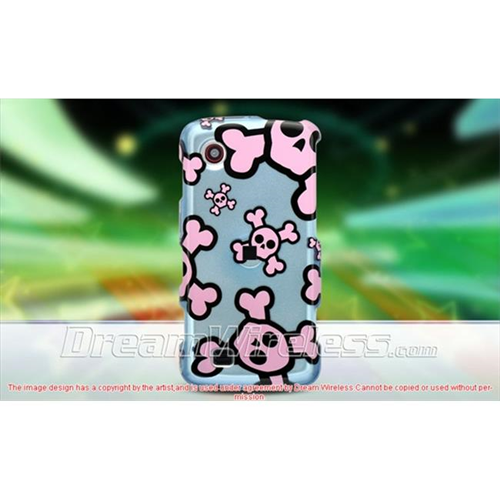 DreamWireless CALG8575BLPKSK LG Chocolate Touch 8575 Crystal Case Blue With Pink Skull
