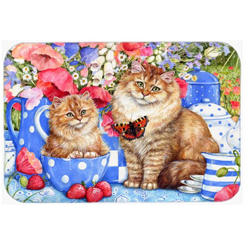 Carolines Treasures CDCO0200MP Blue Cats Mouse Pad Hot Pad or Trivet
