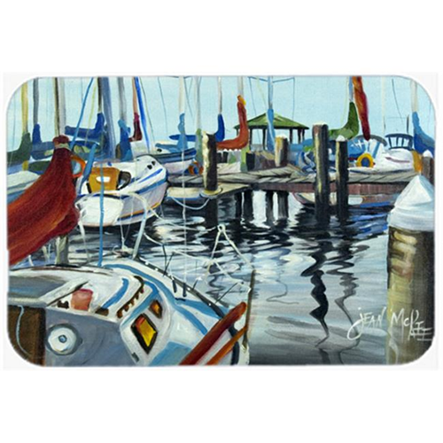 Carolines Treasures JMK1065MP Orange Sail Sailboats Mouse Pad Hot Pad & Trivet