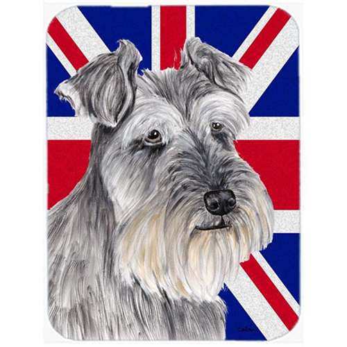 Carolines Treasures SC9850MP 7.75 x 9.25 In. Schnauzer With English Union Jack British Flag Mouse Pad Hot Pad Or Trivet