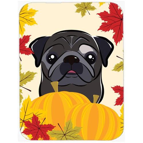 Carolines Treasures BB2069MP Black Pug Thanksgiving Mouse Pad Hot Pad or Trivet
