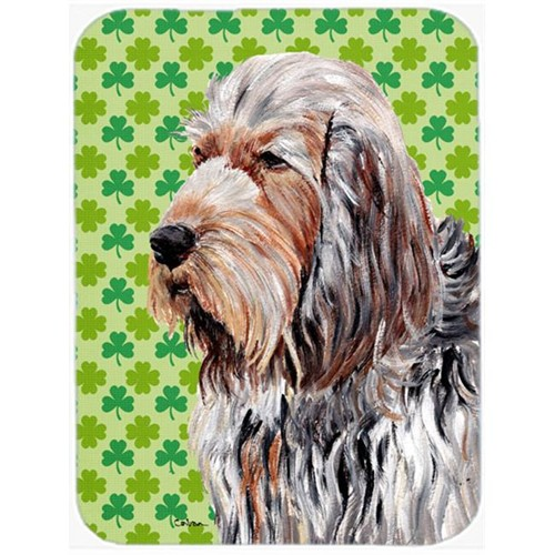 Carolines Treasures SC9732MP Otterhound Lucky Shamrock St. Patricks Day Mouse Pad Hot Pad Or Trivet 7.75 x 9.25 In.