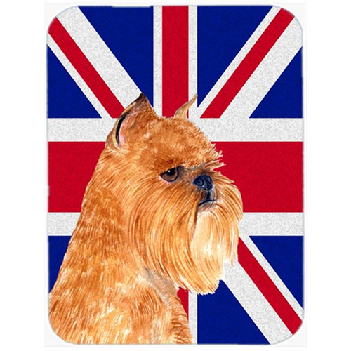 Carolines Treasures SS4936MP 7.75 x 9.25 In. Brussels Griffon With English Union Jack British Flag Mouse Pad Hot Pad Or Trivet