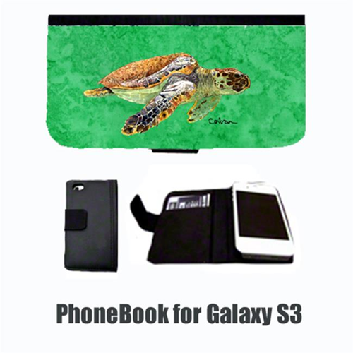 Carolines Treasures 8675-NBGALAXYS3 Turtle Cell Phonebook Cell Phone case Cover for GALAXY S3