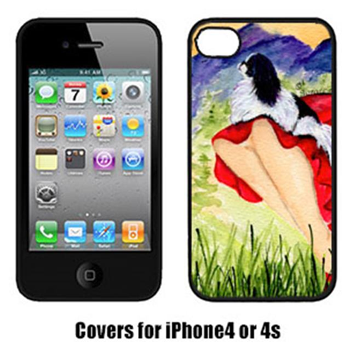 Carolines Treasures SS8524IP4 Lady With Her Japanese Chin Iphone4 Cover