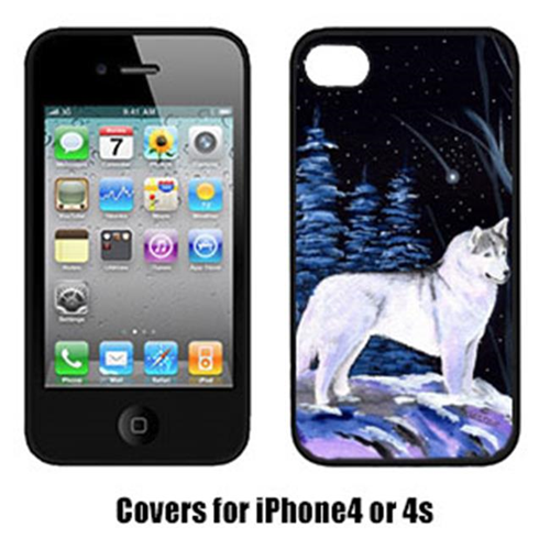 Carolines Treasures SS8400IP4 Starry Night Siberian Husky Cell Phone cover IPhone 4