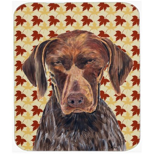 Carolines Treasures SC9235MP German Shorthaired Pointer Fall Leaves Portrait Mouse Pad Hot Pad Or Trivet
