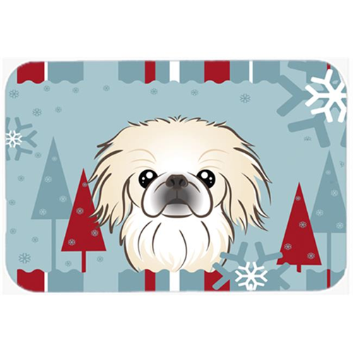 Carolines Treasures BB1717MP Winter Holiday Pekingese Mouse Pad Hot Pad & Trivet