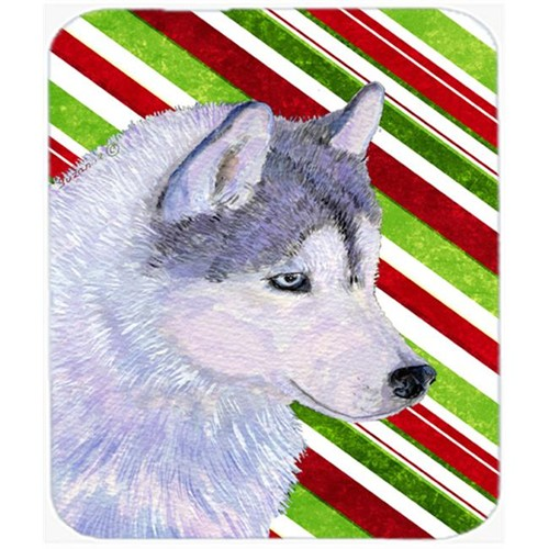 Carolines Treasures SS4533MP Siberian Husky Candy Cane Holiday Christmas Mouse Pad Hot Pad Or Trivet