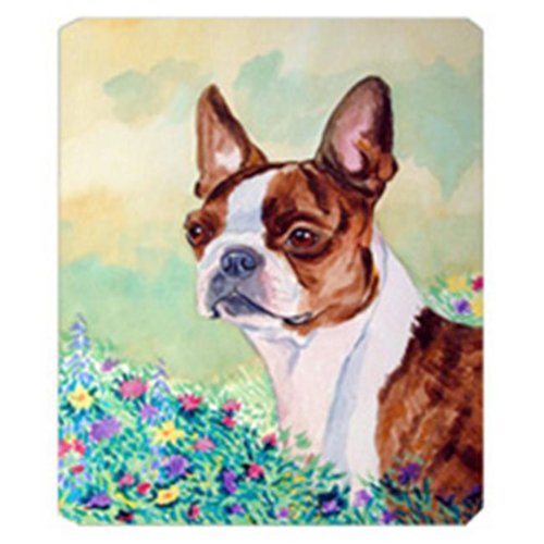 Carolines Treasures 7222MP 8 x 9.5 in. Red and White Boston Terrier Mouse Pad Hot Pad or Trivet
