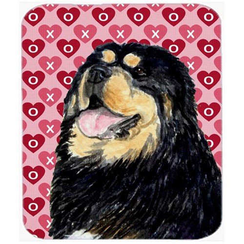 Carolines Treasures SS4512MP Tibetan Mastiff Hearts Love And Valentines Day Mouse Pad Hot Pad Or Trivet