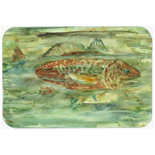 Carolines Treasures 8960MP Abstract Red Fish Mouse Pad Hot Pad or Trivet