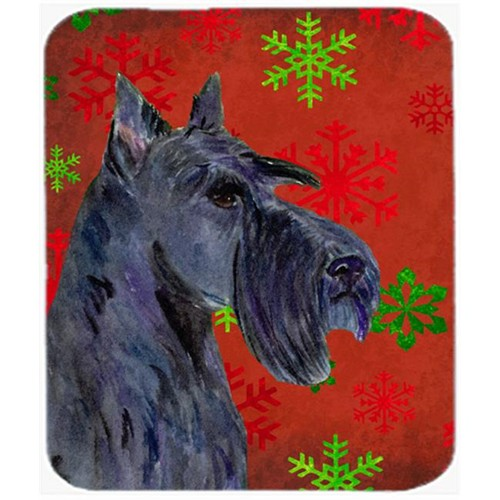 Carolines Treasures SS4736MP Scottish Terrier Snowflakes Christmas Mouse Pad Hot Pad or Trivet
