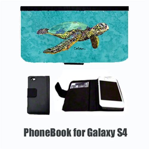 Carolines Treasures 8659-NBGALAXYS4 Turtle Cell Phonebook Cell Phone case Cover for GALAXY 4S