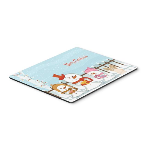 Carolines Treasures BB2408MP Merry Christmas Carolers Papillon Sable White Mouse Pad Hot Pad or Trivet