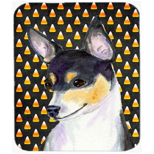 Carolines Treasures SS4311MP Chihuahua Candy Corn Halloween Portrait Mouse Pad Hot Pad or Trivet