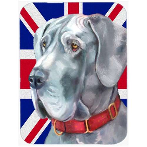 Carolines Treasures LH9598MP Great Dane With English Union Jack British Flag Mouse Pad Hot Pad & Trivet