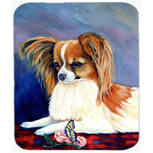 Carolines Treasures 7038MP 9.5 x 8 in. Sable Papillon with a Butterfly and Rose Mouse Pad Hot Pad or Trivet