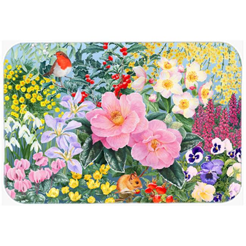Carolines Treasures SASE0956MP Winter Floral by Anne Searle Mouse Pad Hot Pad or Trivet