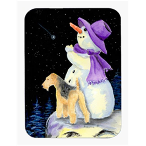 Carolines Treasures SS8956MP Snowman with Lakeland Terrier Mouse Pad & Hot Pad & Trivet