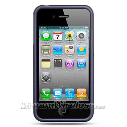 Dreamwireless Fitted Soft Shell Case for iPhone 4S; iPhone 4 - Purple