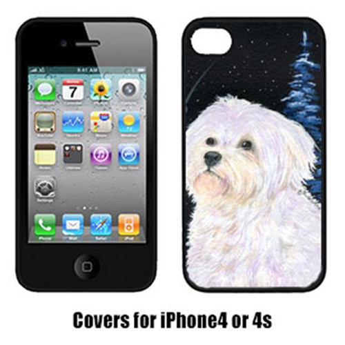 Carolines Treasures SS8461IP4 Starry Night Maltese Cell Phone cover IPhone 4