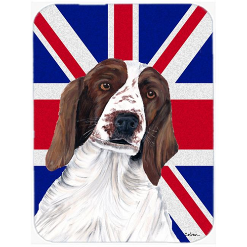 Carolines Treasures SC9837MP 7.75 x 9.25 In. Springer Spaniel With English Union Jack British Flag Mouse Pad Hot Pad Or Trivet