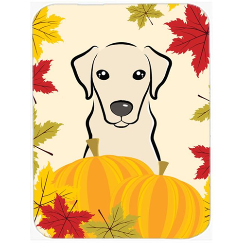 Carolines Treasures BB2028MP Yellow Labrador Thanksgiving Mouse Pad Hot Pad or Trivet
