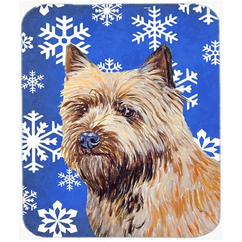 Carolines Treasures LH9275MP Cairn Terrier Winter Snowflakes Holiday Mouse Pad Hot Pad Or Trivet