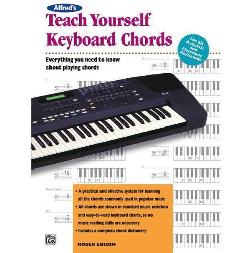 Alfred 00 6592 Teach Yourself Keyboard Chords Music Book Sheet