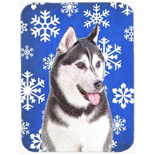Carolines Treasures KJ1175MP Winter Snowflakes Holiday Alaskan Malamute Mouse Pad Hot Pad or Trivet